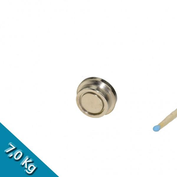 Memomagnet aus Stahl Ø 22 x 9 mm - hält 7 kg
