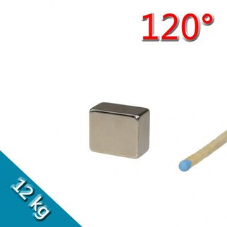 Quadermagnet 18,0 x 15,0 x 10,0 mm N45H Nickel - 120 °C
