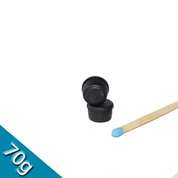 Memomagnet Ø 10 x 6,5 mm FERRIT - Schwarz - hält 70 g