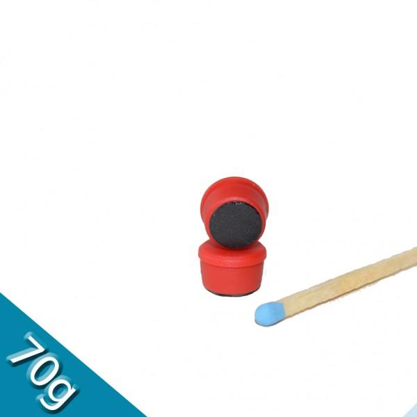 Memomagnet Ø 10 x 6,5 mm FERRIT - Rot - hält 70 g