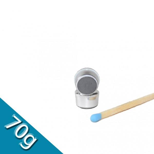 Memomagnet Ø 10 x 6,5 mm FERRIT - Silber - hält 70 g