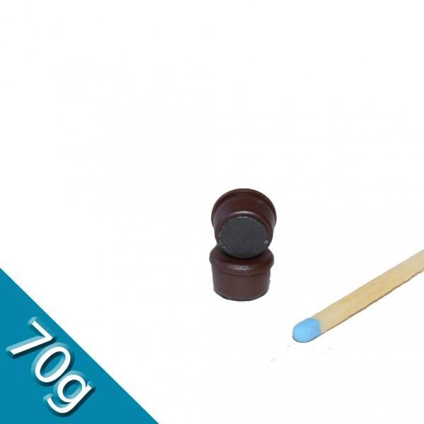 Memomagnet Ø 10 x 6,5 mm FERRIT - Braun - hält 70 g