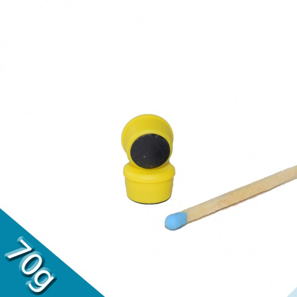 Memomagnet Ø 10 x 6,5 mm FERRIT - Gelb - hält 70 g
