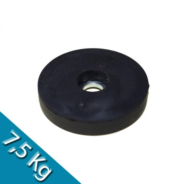 Magnetsystem Ø 31 mm gummiert mit Bohrung - hält 7,5 kg