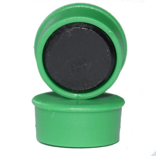Memomagnet Ø 16 x 7 mm FERRIT - Grün - hält 300 g