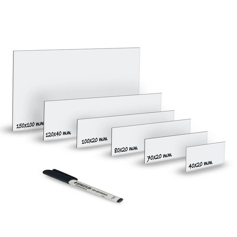 Magnet-Schilder Größe: 50mm x 30mm Magnetstreifen Magnetetiketten