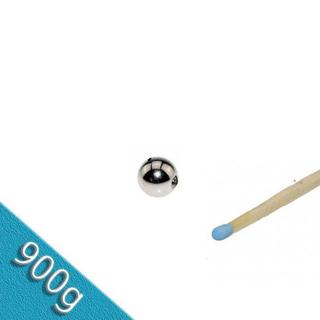 Magnetkugel / Kugelmagnet Ø 8,0 mm Nickel N38 - hält 900 g