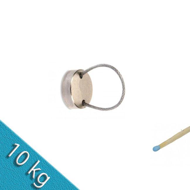 Magnetteller Ø18 mit flexiblem Stahlseil VarioSeil hält 10kg