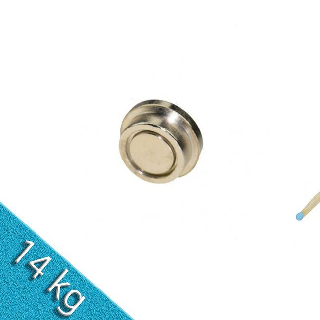 Memomagnet aus Stahl Ø 25 x 9 mm - hält 14 kg