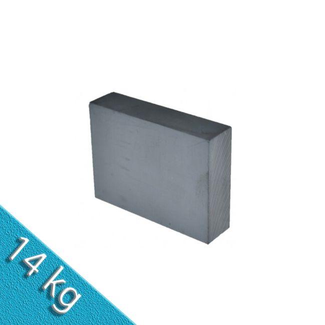 Quadermagnet 70,0 x 70,0 x 30,0 mm Y35 Ferrit - hält 14 kg