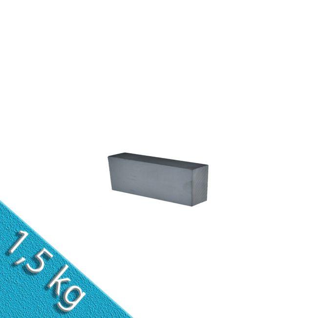Quadermagnet 50,0 x 15,0 x 6,0 mm Y30 FERRIT lackiert - 1,5 kg