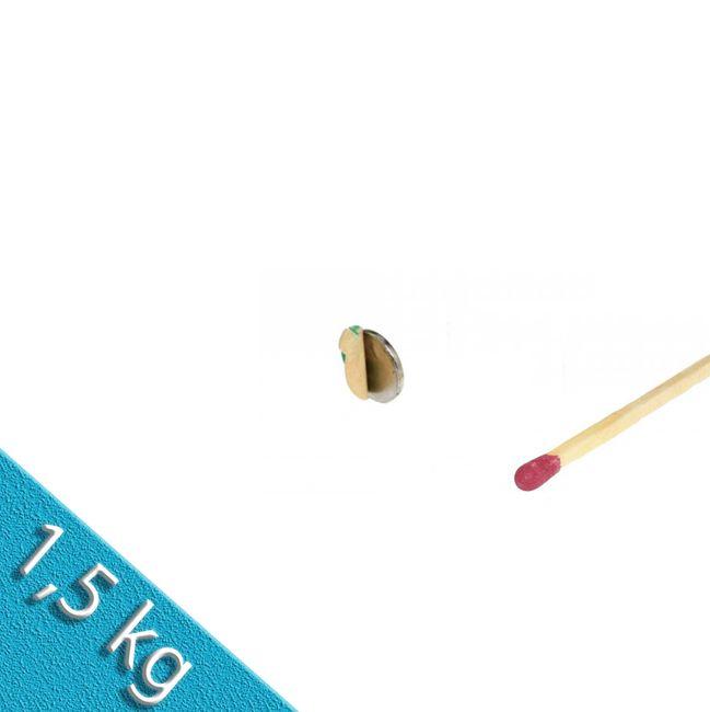 Scheibenmagnet Ø 22,0 x 1,0 mm N35 Nickel - selbstklebend