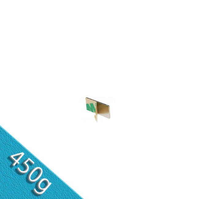 Quadermagnet 10,0 x 5,0 x 1,0 mm N35 Nickel - selbstklebend