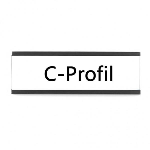 Magnetisches C-Profil 200 x 60 mm mit Papier und Schutzfolie