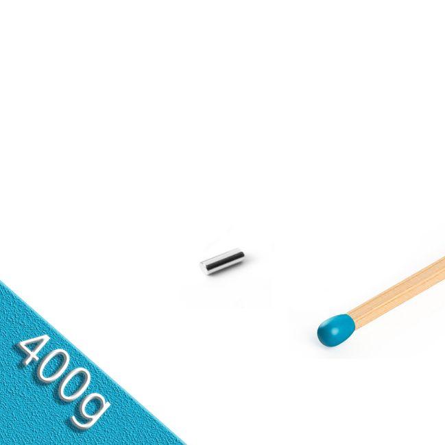 Stabmagnet Ø 3,0 x 8,0 mm N48 Nickel - hält 400 g