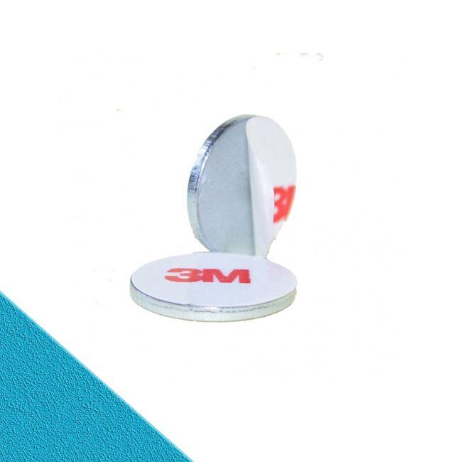 Metallscheibe Ø 60 mit Doppelklebeband  | Haftgrund für Magnete
