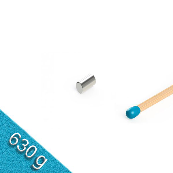 Stabmagnet Ø 4,0 x 5,0 mm N45 verzinkt - hält 630 g