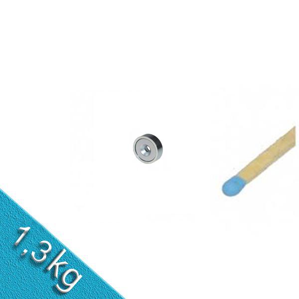Neodym Flachgreifer Ø 10,0 x 4,5 mm mit Senkung hält 1,3 kg