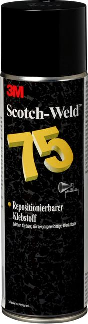 3M™ Scotch-Weld™ Sprühklebstoff 75 | Kurze Ablüftzeit - Dauerklebrig / wiederlösbar