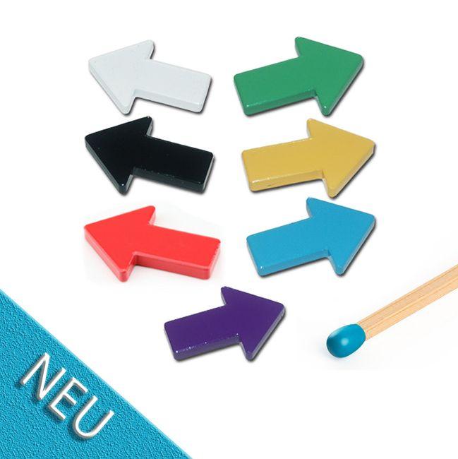 PFEIL MAGNET 44 X 33 X 6 MM FERRIT verschiedene Farben