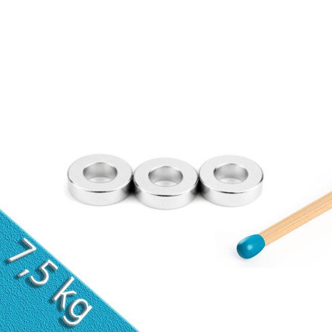 Ringmagnet Ø 19,1/9,5 mm x 6,4 mm