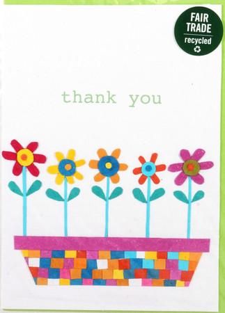 Grußkarte - Danksagung - Flower Bed