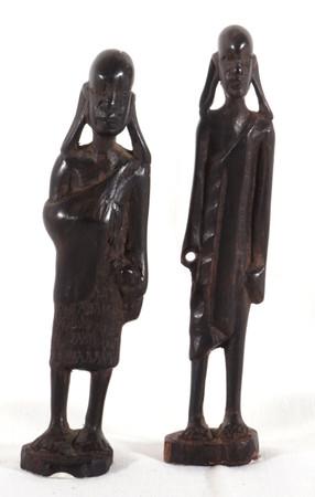 Maasai-Paar - klein - aus Hartholz