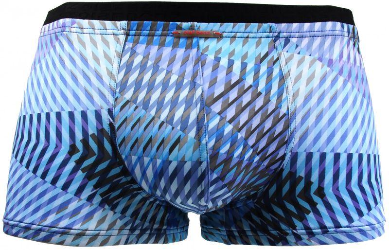 Olaf Benz Minipant Pant Short Boxer Boxershorts blau schwarz aqua transparent