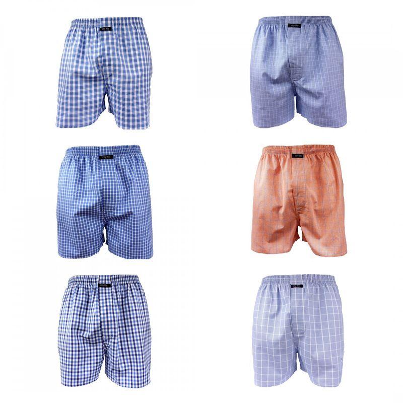 6 er Pack CITYLIFE Jungen- Kinder Webboxer Boxershorts blau weiss orange