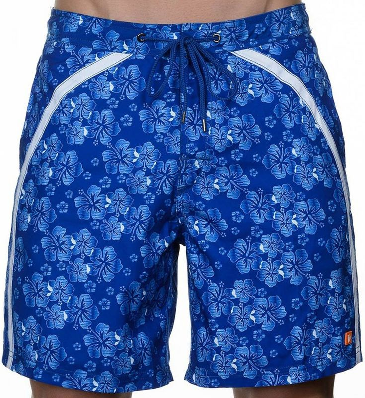 BRUNO BANANI Badeshorts Strandshorts Boardshorts Badehose blau weiß Hawaii NEU