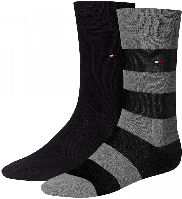 2 x Tommy Hilfiger Quater Socken Strümpfe Herren schwarz Basic Fashion Socks