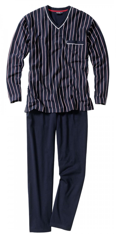 ceceba pyjama v ausschnitt lang herren schlafanzug bergr ssen. Black Bedroom Furniture Sets. Home Design Ideas