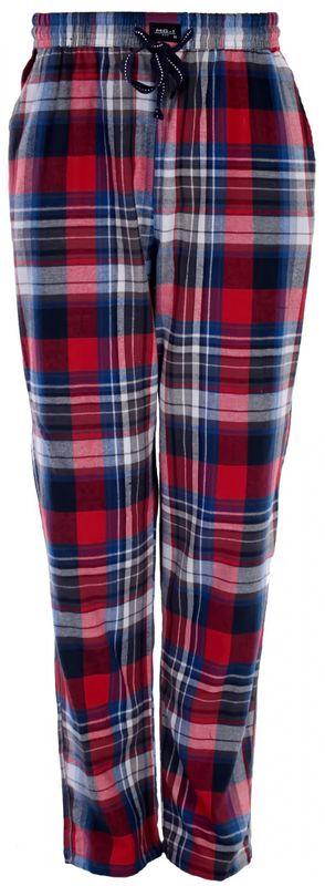 MG-1 warme FLANELL Pyjamahose Schlafanzug Hose Homewear kariert marine FARBWAHL
