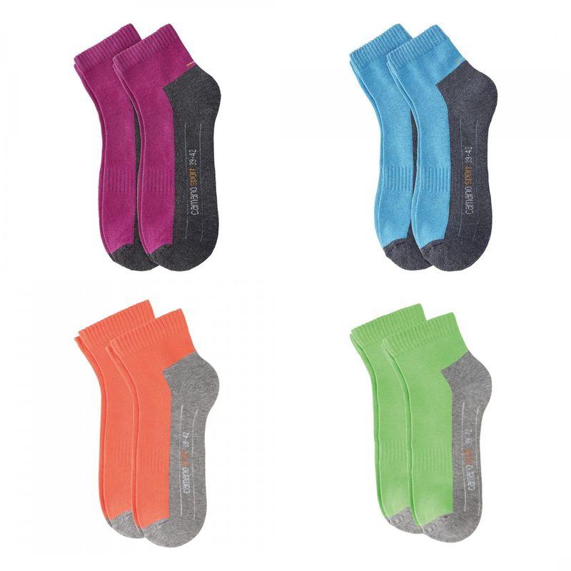 2 Paar Camano Pro Tex Function Sport Quarter Sneaker Socken unisex FARBWAHL