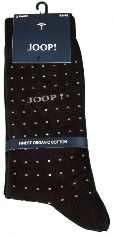 2 Paar JOOP Strümpfe Socken Herren DOTS und Uni schwarz black Socks Geschenk
