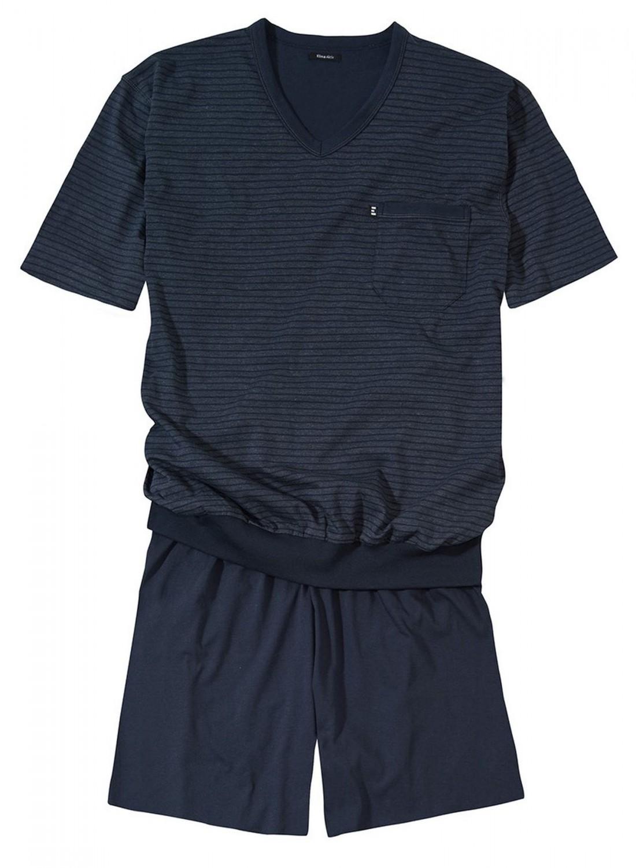 g tzburg kurz pyjama schlafanzug herren bergr ssen marine. Black Bedroom Furniture Sets. Home Design Ideas