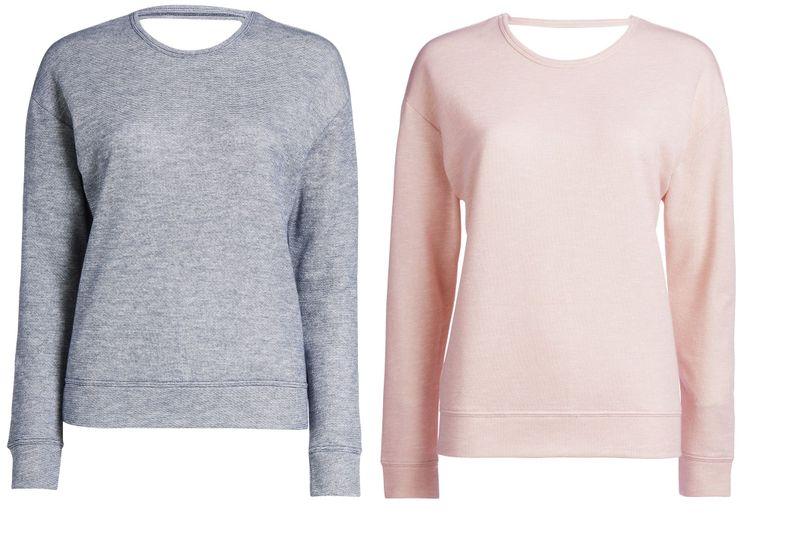 ESSENZA Damen Shirt Sweater Homewear Sportswear Yoga Langarm Rückenausschnitt