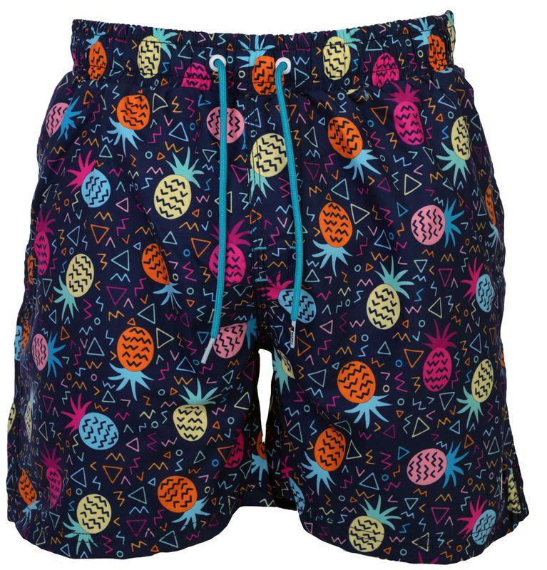 HAPPY SHORTS Herren Badeshorts Strandshorts Shorts Badehose Pineapple  S - XXL