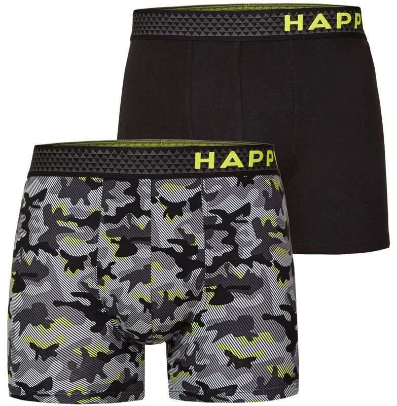 "2er Pack HAPPY SHORTS Jersey Boxershorts D17 ""black Camouflage"""
