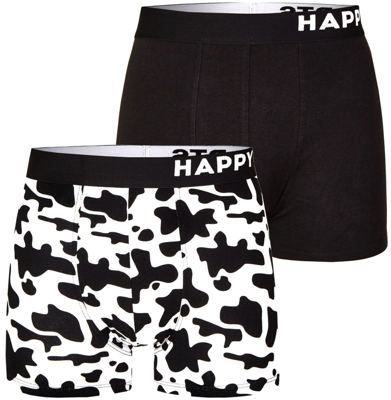 "2er Pack HAPPY SHORTS Jersey Boxershorts D19 ""Cow Print - Kuh Druck"""