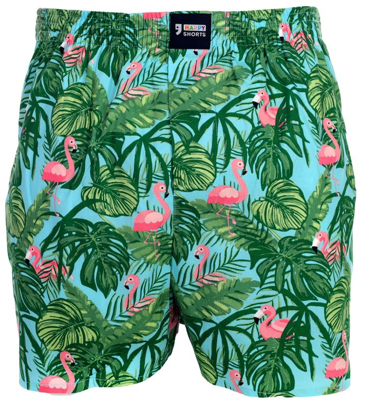 "Happy Shorts Boxer Boxershorts Shorts Webboxer ""Flamingo"""