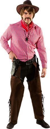 Cowboy Chaps Wildlederimitat braun – Bild 1