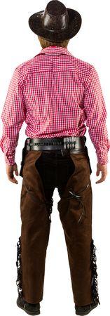 Cowboy Chaps Wildlederimitat braun – Bild 3