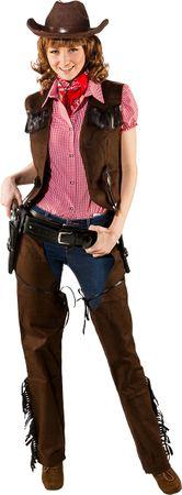 Cowgirl Weste Wildlederimitat – Bild 1
