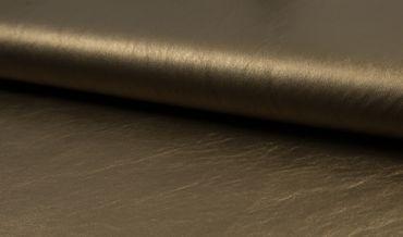 Metallic Kunstleder bronze / dunkles gold