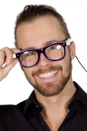 Brille mit Licht lila / LED-Brille