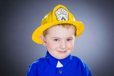 Feuerwehrhelm für Kinder gelb – Bild 1