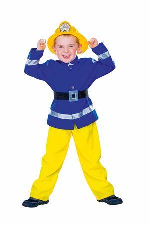 Feuerwehrmann-Anzug blau-gelb
