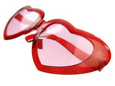 Brille Mega Hearts Herz rot – Bild 4