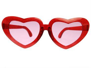 Brille Mega Hearts Herz rot – Bild 1